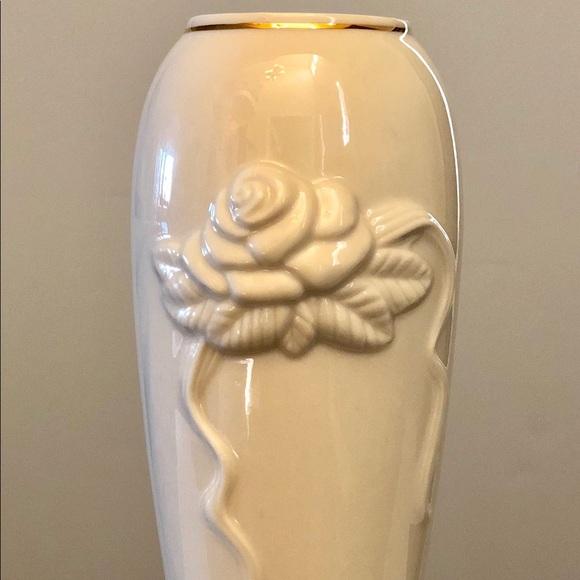 Lenox Other Porcelain Rose Vase With Gold Trim Poshmark